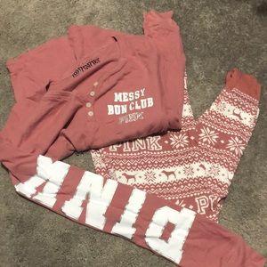 pink pajama set
